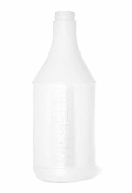 Plastic bottle with no logo: Graduated bottle with no logo Lalema