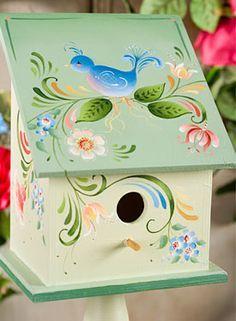 Beautiful Hand Painted Bird House