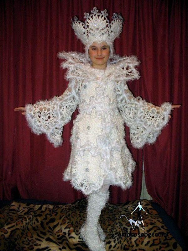 Снежная королева. Карнавальный костюм крючком. Мастер-класс