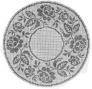 Filet crochet chart                                                                                                                                                     Mais