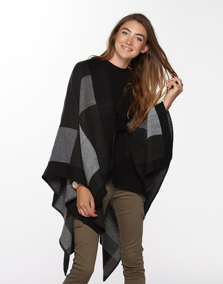BLANKET CAPE - BLACK/GREY | Supre