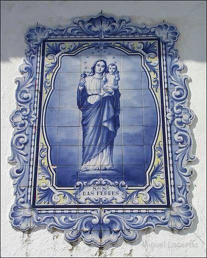 Nossa Senhora das Febres - Azulejo da Capela da Nossa Senhora das Febres