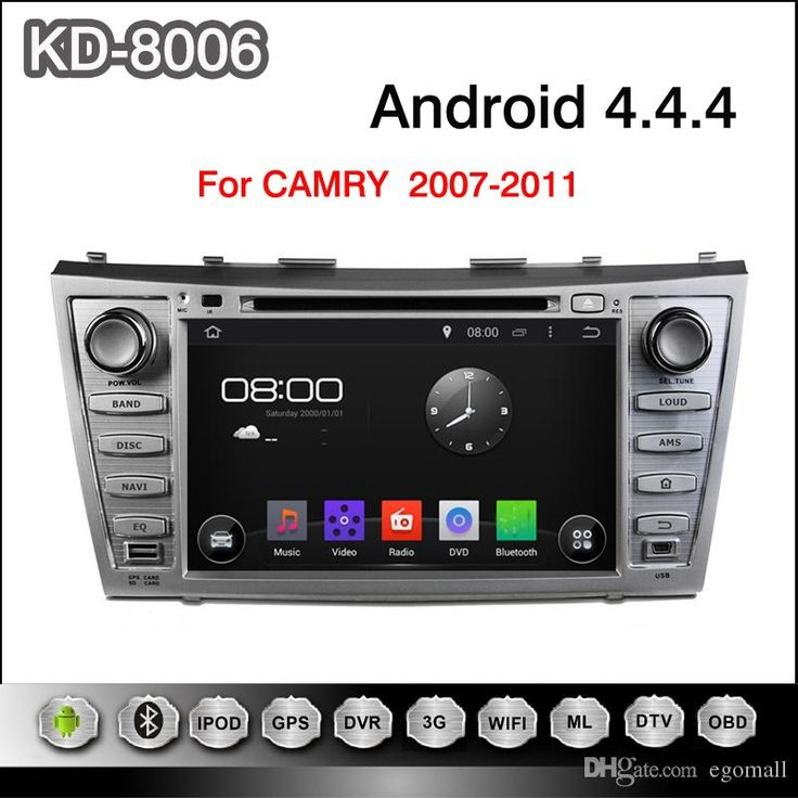 Pure Android 4.4.4 8inch Capacitive Touchscreen Car DVD Player For Toyota CAMRY 2007-2011 Online with $392.68/Piece on Egomall's Store   DHgate.com