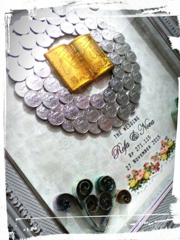 Mahar logam kaligrafi
