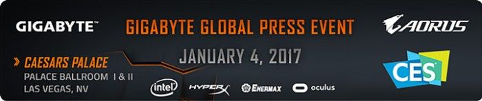 GIGABYTE Showcases Solutions and More at CES 2017