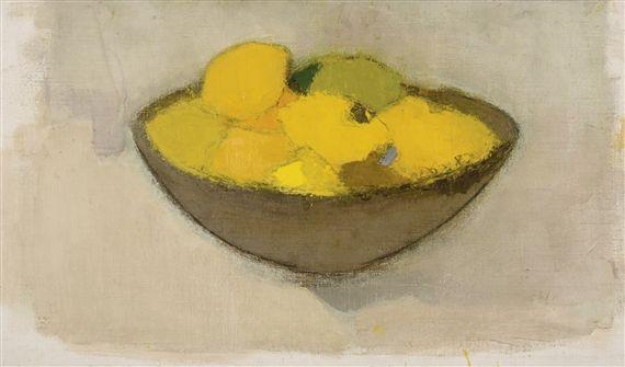 Helene Schjerfbeck, LEMONS IN A BOWL