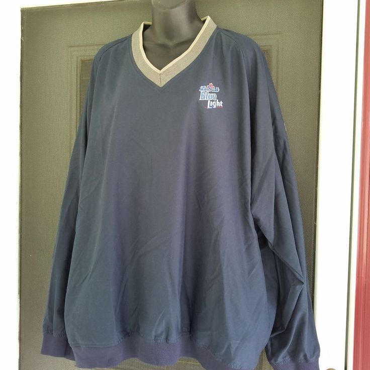 Ashworth Labatt Blue Light Pullover Windbreaker Jacket XXL 2xl #Ashworth #Windbreaker