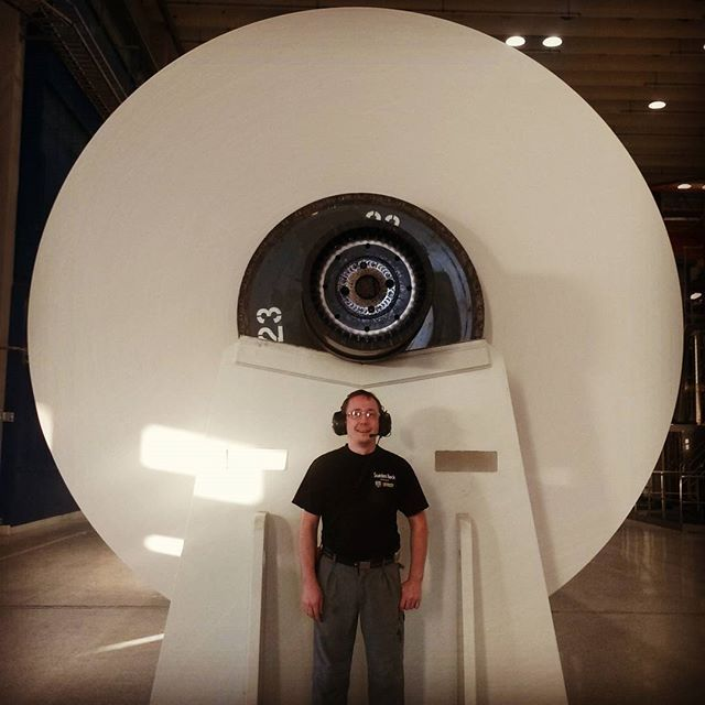Did we mention that we work with BIG machines in Stora Enso? This is a machine reel with paper all rolled up.