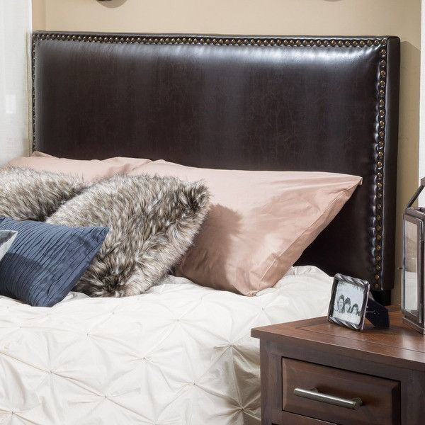 Metro Shop Christopher Knight Home Hilton Brown Leather Headboard-Hilton Brow...