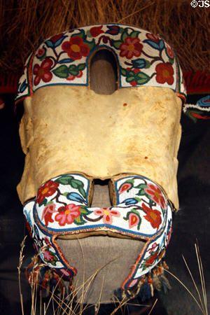 Cree beadwork saddle at Royal Saskatchewan Museum. Regina, SK.