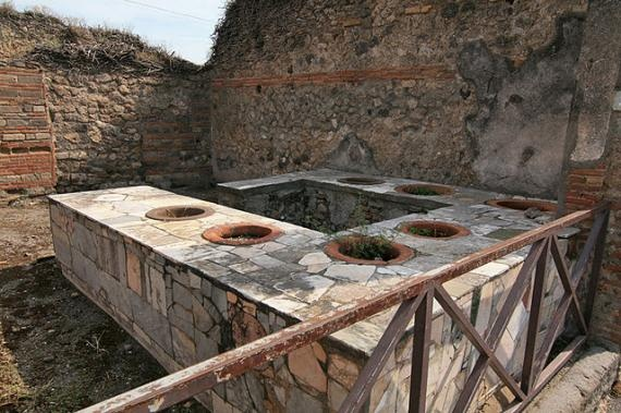 Even the ancients needed fast food, apparently. The Pompeii equivalent of Burger King?