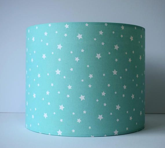 Mint Lampshade Stars Star For Baby Room Nursery