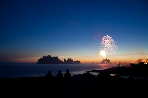 Happy Independence Day!  (Photo: 4th of July Fireworks, First Beach, Quileute Nation, La Push, WA)