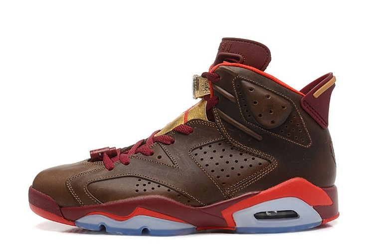 """Clearance Air Jordan 6 (VI) Retro """"Championship Cigar"""" Raw Umber/Chilling Red-Team Red-Metallic Gold Australia Outlet Online"""