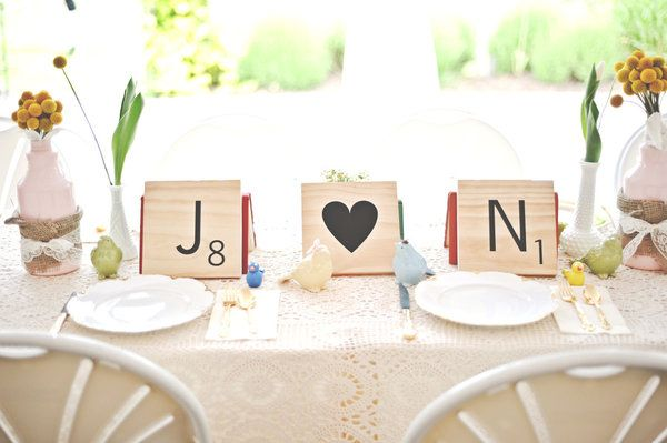 Wishing You a Very Scrabble Wedding | Weddingbee