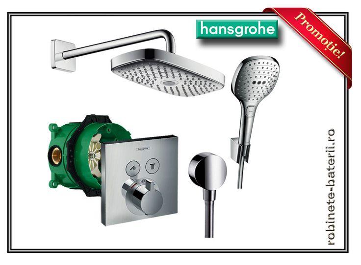 Sistem de dus ingropat Hansgrohe Raindance Design cu termostat