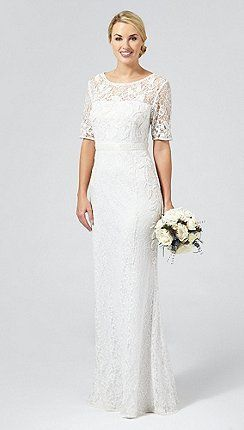 Debut Ivory Paloma Lace And Beaded Wedding Dress