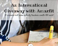 Win an Amazfit Activity Tracker Worth $80