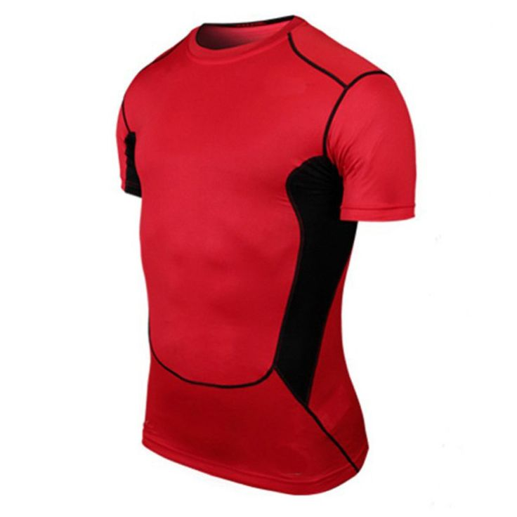 Wholesale Men Basketball Tight Sportswear Short Sleeve Jersey New Material PRO Breathable Quick-Drying Base Compression Shirt