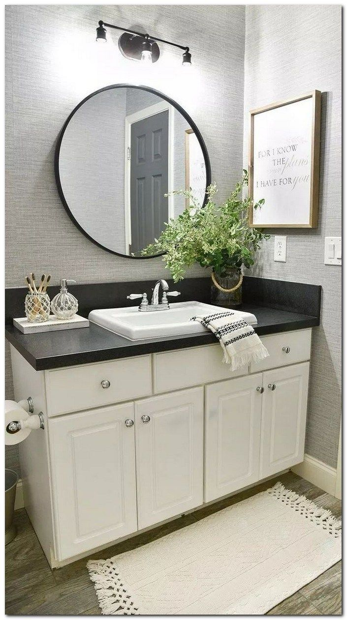 37 Small Bathroom Decor Ideas On A Budget 33 Home And Garden Small Bathroom Decor Bathroom Makeover Bathrooms Remodel