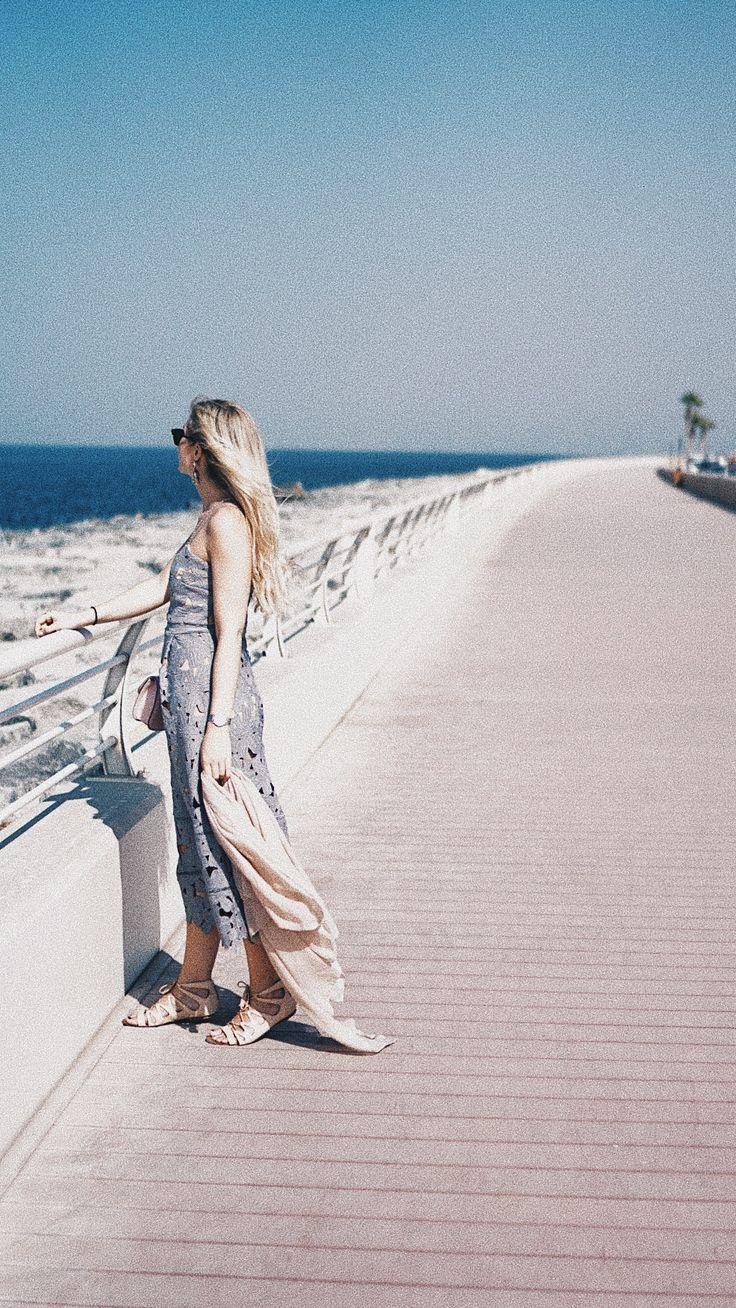 "On The Palm Dubai behind the famous Atlantis Hotel | Check my ""One day in Dubai"" blogpost on cityhopperlook.com #nakddress #crochetmididress #valentinorockstud #bag"