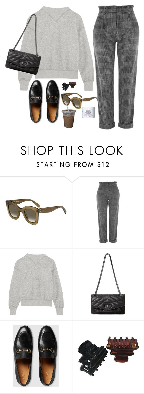 """Untitled #1932"" by mmooa ❤ liked on Polyvore featuring CÉLINE, Topshop, Étoile Isabel Marant, Zadig & Voltaire, Gucci and Kiehl's"
