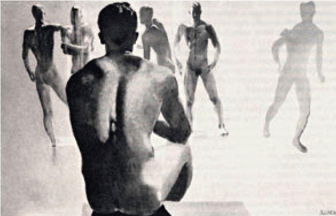 Bathers  1935 year  Graphics