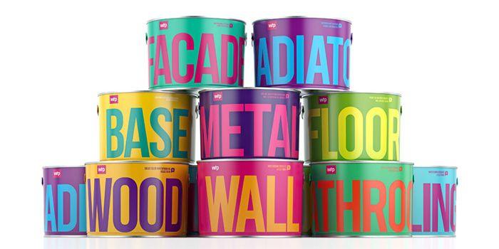 Waldo TrommlerPaintsColors Combos, Painting Cans, Waldo Trommler, Brand Identity, Packaging Design, Colors Combinations, Trommler Painting, Bold Colors, Design Website