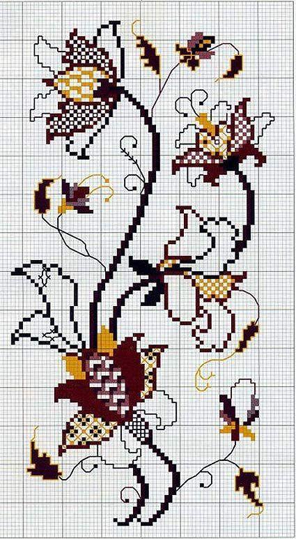 πρότυπα καμβά με ένα σχέδιο για το κέντημα floral μοτίβα