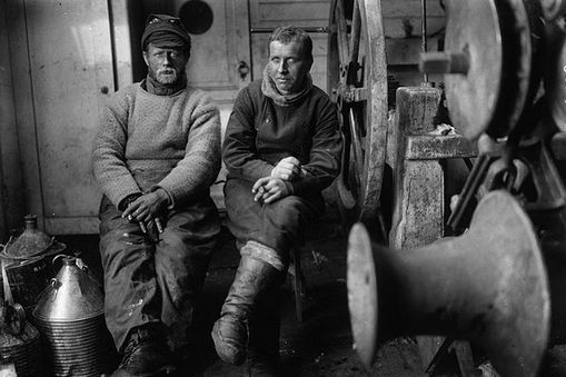 Alfred Wegener (pictured here on the right) realised that many continents fitted together like reverse templates. This caused him to propose the theory of continental drift, which evolved into the ideas of plate tectonics.