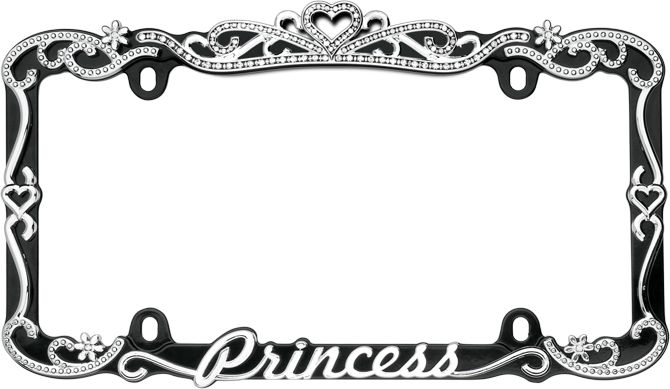 Princess Car License Plate Frame Girly Auto Accessory