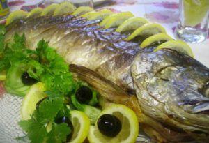 фаршированная рыба целиком, фаршированная рыба рецепт