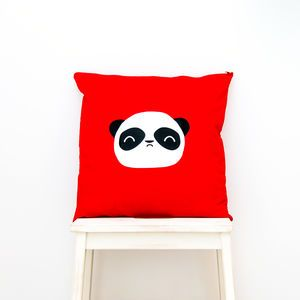 Wise Panda Cotton Cushion Cover - children's cushions