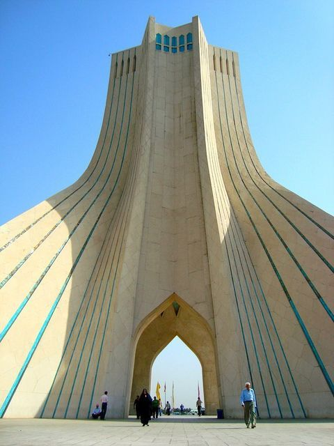 flickr.com Azadi (Liberty) Tower is one of the symbols of Tehran City, the capital of Iran, and marks the west entrance to the city.