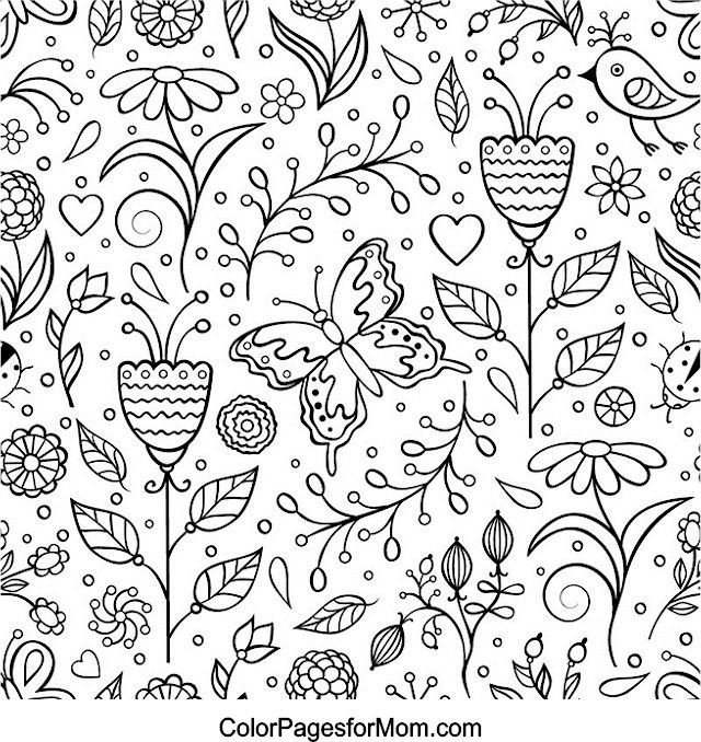 Hearts Coloring Page 30 And Many Other Free Pages At ColorPagesforMom