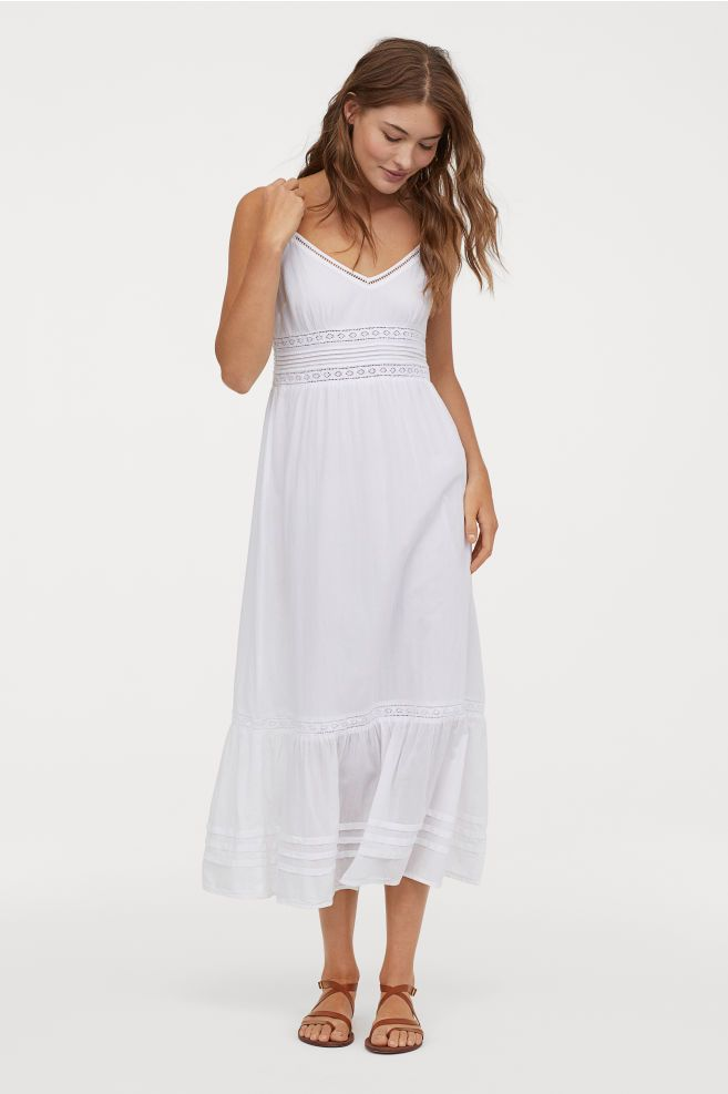 98f1c342a9 Maxi dress with lace details in 2019 | style | Lace dress, Dresses ...