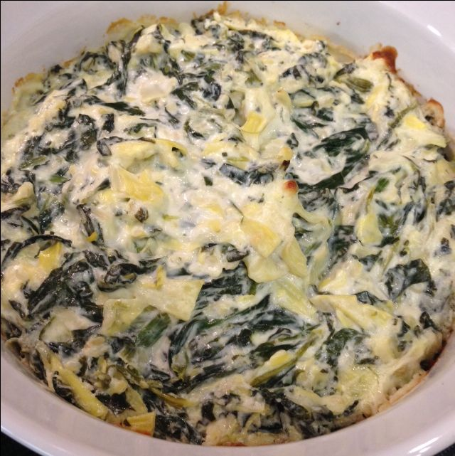 Quick and Easy Spinach Artichoke Dip - Great gluten free appetizer !