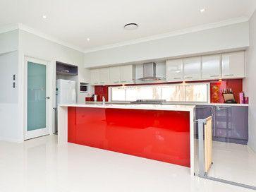 Red Splashback Design Ideas, Pictures, Remodel and Decor