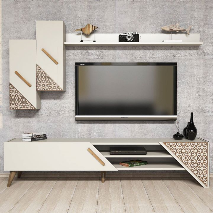 Pin By Digant Mevada On Tv Units With Images White Tv Unit Tv Unit Decor Tv Room Design