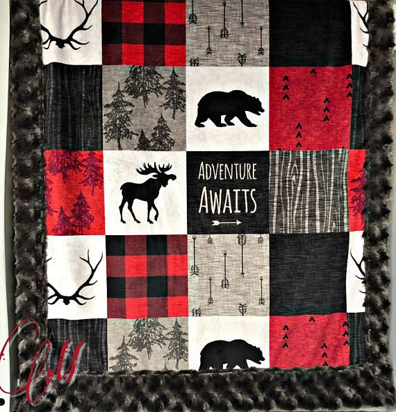 ***Options*** Please read carefully!! Black and red faux quilt with charcoal swirl backing. Minky blankets are minky on both sides. Check shop info for turnaround time. Minky Baby blanket - Measures approximately 28x38 inches. Great for strollers, car seats, swaddling etc Minky