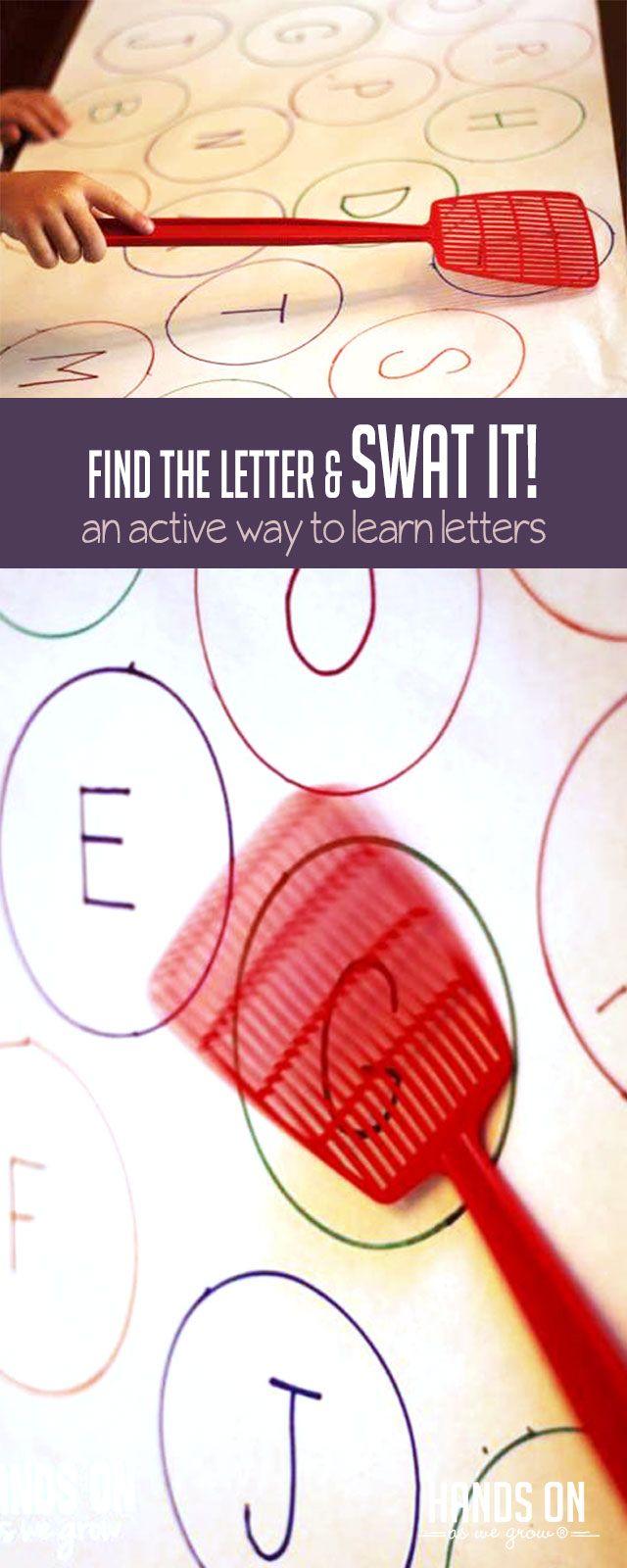 Finde den Buchstaben und klopfe ihn! Aktive Art, Briefe zu lernen!   – Aktivität Praktikum