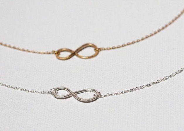 Charm- & Bettelketten - Halskette Infinity, Unendlichkeit Kette, gold - ein Designerstück von MinimalVS bei DaWanda