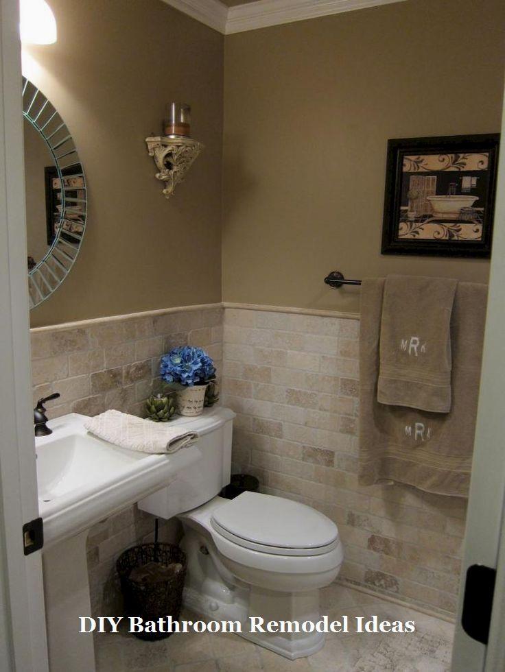 Incredible Diy Ideas For Bathroom Makeover Remodel Remodeling Half Bathroom Decor Small Half Bathrooms Tan Bathroom