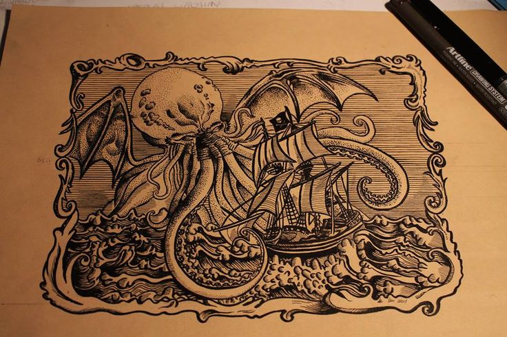 Valentina Anja Morelli - Cthulhu illustration - #vaffancthulhu #MassoneriaCreativa - www.massoneriacreativa.com