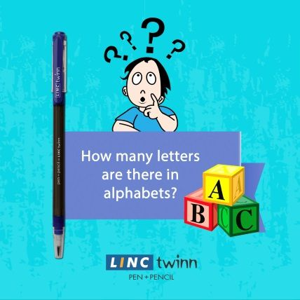 Keep guessing till you reveal the correct answer. #GuessTheLetters #LincPens #LincTwinn