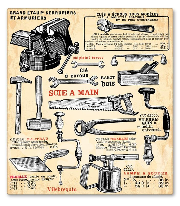 Canvas print TOOLS by Sticky!!!