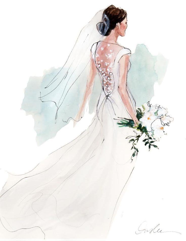 17 Best Ideas About Wedding Dress Illustrations On