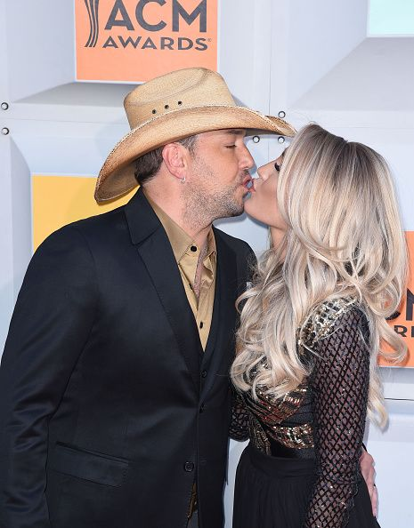 Jason Aldean and Brittany Kerr attend the 51st Academy of Country Music Awards…