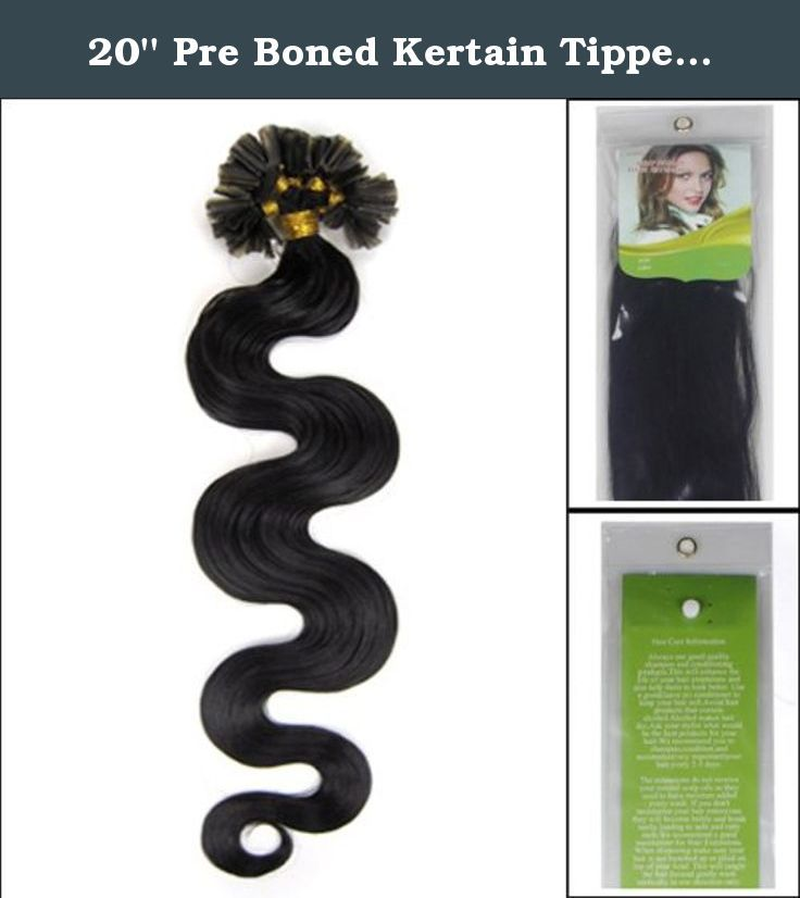 20'' Pre Boned Kertain Tipped Straight Nail U Shape Real Human Hair Extensions Wavy Color #1b Black with Brown 0.5g/s 100s Hair Extension. We guarantee 100% human hair. High quality, very competitive price. Colours may look little differently on each monitors. Nail Tip / U-Tip Nail tip hair extensions or u tip hair extensions are pre bonded 100% human hair extensions which are dipped in high quality keratin hair extension glue at the tips. This is the safest hair bonding glue and can be...