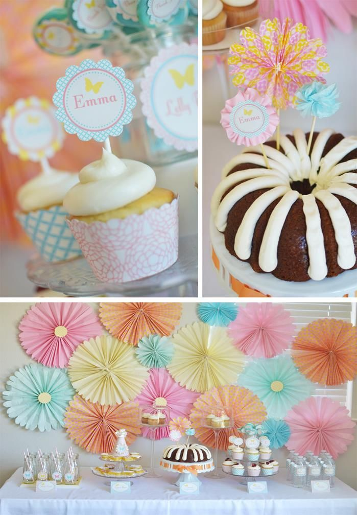 Butterfly garden baby shower birthday party planning ideas supplies butterfly theme - Butterfly themed baby shower favors ...